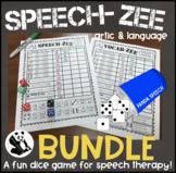 SPEECH-ZEE BUNDLE! A Speech Therapy Dice Game