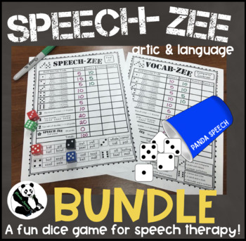 SPEECH-ZEE BUNDLE! A Speech Therapy Dice Game