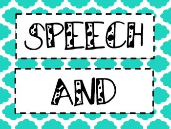 SPEECH and LANGUAGE BANNER/POSTER