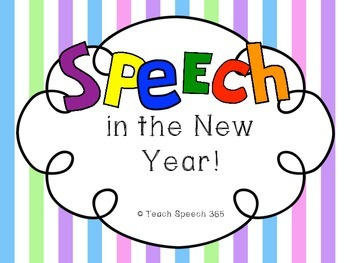 SPEECH in the New Year [FREEBIE]