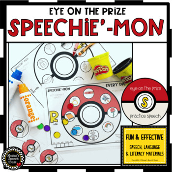 SPEECHIE'-MON! EOY speech worksheets EASY PREP & NO PREP