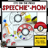 SPEECHIE'-MON! EOY speech worksheets EASY PREP & NO PREP