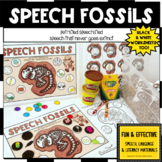 DINOSAUR FOSSILS speech therapy worksheets SENSORY BIN EAS