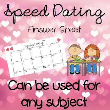 SPEED DATING in The CLASSROOM for ANY SUBJECT