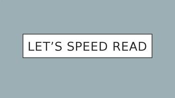 SPEED READ MATH