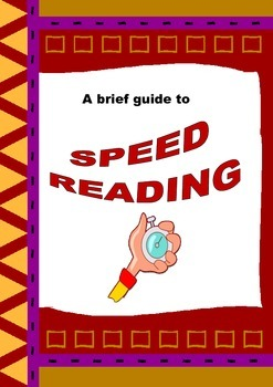 FREEBIE: Speed Reading Worksheets: simple skills to increase reading rate
