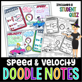 Speed and Velocity Doodle Notes | Science Doodle Notes