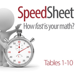 SPEEDSHEET: Multiplication Tables 1-10