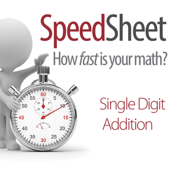 SPEEDSHEET: Single Digit Addition
