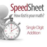 SPEEDSHEET: Single Digit Addition