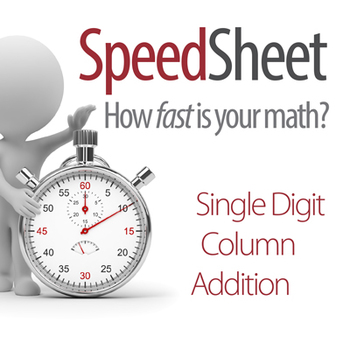 SPEEDSHEET: Single Digit Column Addition