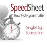 SPEEDSHEET: Single Digit Subtraction