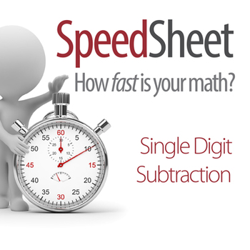 SPEEDSHEET: Single Digit Subtraction