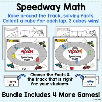 Addition & Subtraction to 20 - Racetrack Games