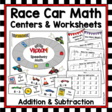 Race Car Addition and Subtraction Within 20 - Racetrack Games