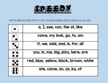 SPEEDY! Fluence Game