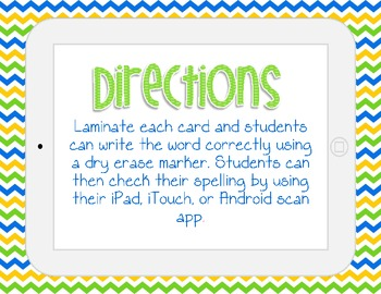 SPELL IT! A Compound Word Literacy Center with QR Codes