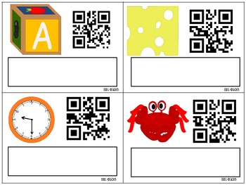 SPELL IT! Blends and Digraphs Literacy Center with QR Codes