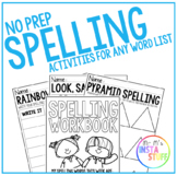 SPELLING ACTIVITIES FOR ANY WORD LIST // NO PREP PRINTABLES