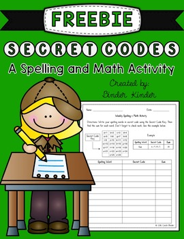 Spelling & Math Activity {Freebie}