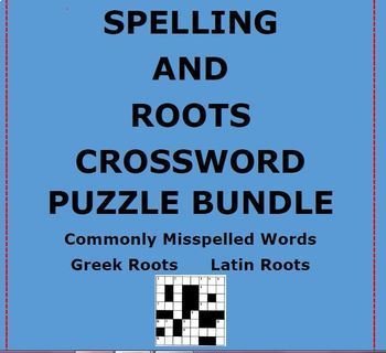 SPELLING AND ROOT CROSSWORD PUZZLE BUNDLE