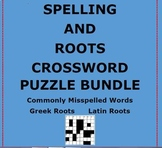 CROSSWORD PUZZLE BUNDLE..Spelling and Roots