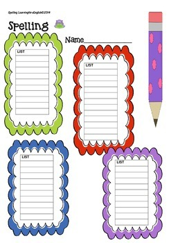 BASIC SIGHT WORD SPELLING LISTS PRINTABLE