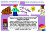 SPELLING CONTRACTIONS GAME BOARD - LEGO THEME - SUPPORTING CONTRACTION CARD