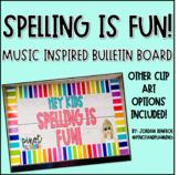 SPELLING IS FUN Bulletin Board Template