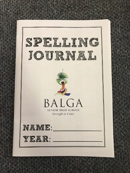 SPELLING JOURNAL + HAVE A GO PAD