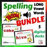 SPELLING Long Vowel Words ... BUNDLE ... 5 DIGITAL DECKS G