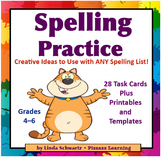 BACK-TO-SCHOOL  SPELLING PRACTICE Task Cards