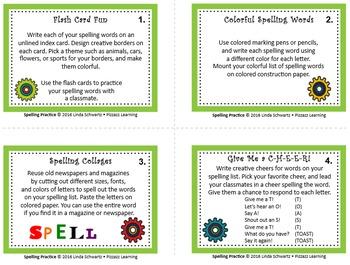BACK-TO-SCHOOL  SPELLING PRACTICE Task Cards