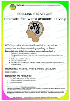 SPELLING STRATEGIES  Prompts for word problem solving