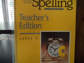SPELLING TEACHERS EDITION   ISBN 0-669-31398-X