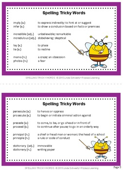 SPELLING TRICKY WORDS • A GREAT BACK-TO-SCHOOL REVIEW