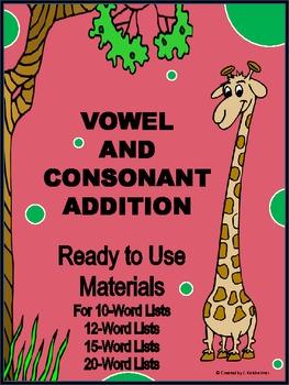SPELLING: VOWEL & CONSONANT ADDITION