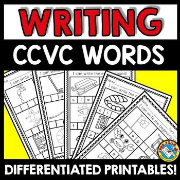 SPELLING WORD WORK ACTIVITIES KINDERGARTEN (DIFFERENTIATED CCVC WORDS WORKSHEETS