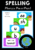 SPELLING - What's that sound? PowerPoint (Print & Vic Cursive)