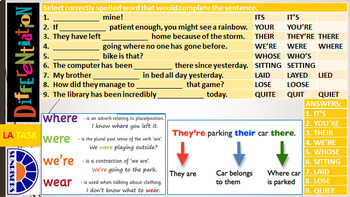 SPELLINGS: READY TO USE LESSON PRESENTATION