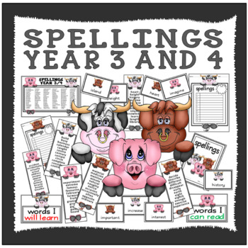 SPELLINGS YEAR 3 AND 4 TEACHING RESOURCES ENGLISH KEY STAGE 2