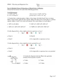 SPH4U - Electricity and Magnetism Test