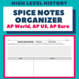 SPICE Notes Organizer (AP World)
