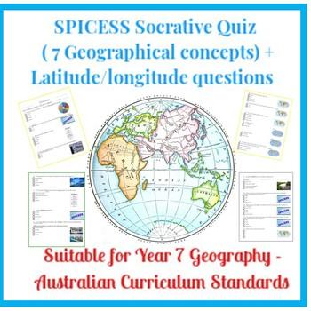 SPICESS Socrative Quiz (7 Geographical concepts) + Latitude/longitude