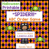 SPIDER ABC Order - Halloween Dictionary Skills
