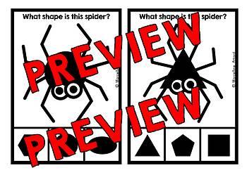 HALLOWEEN ACTIVITY PRESCHOOL (SPIDER MATH KINDERGARTEN SHAPES RECOGNITION CENTER