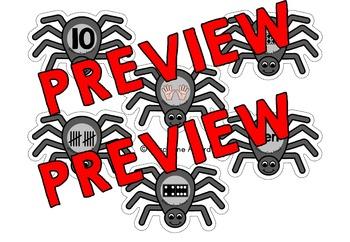 SPIDER ACTIVITIES: SPIDER MATH CENTER: SPIDERS NUMBER SENSE KINDERGARTEN CENTER