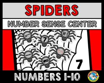 HALLOWEEN ACTIVITIES KINDERGARTEN (SPIDERS NUMBER SENSE GAME)