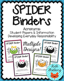 SPIDER Binder {Student Organization Folder}