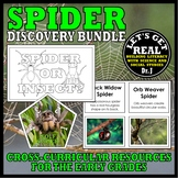 Nocturnal Animals: SPIDERS Book/Activity Bundle